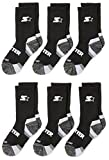 Starter Boys' 6-Pack Athletic Crew Socks, Amazon Exclusive, Multi, Small (Shoe Size 9-3.5)