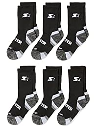 Starter Boys' 6-Pack Athletic Crew Socks, Amazon Exclusive