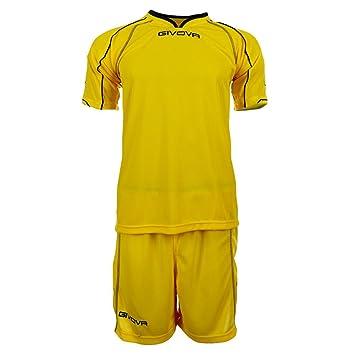 Givova Capo - Equipación de fútbol (camiseta y pantalón corto) amarillo amarillo Talla: