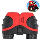 Photo : Birthday Gifts for Boys, DIMY 8x21 Compact Fogproof Binoculars for Hiking Hunting Red DL04