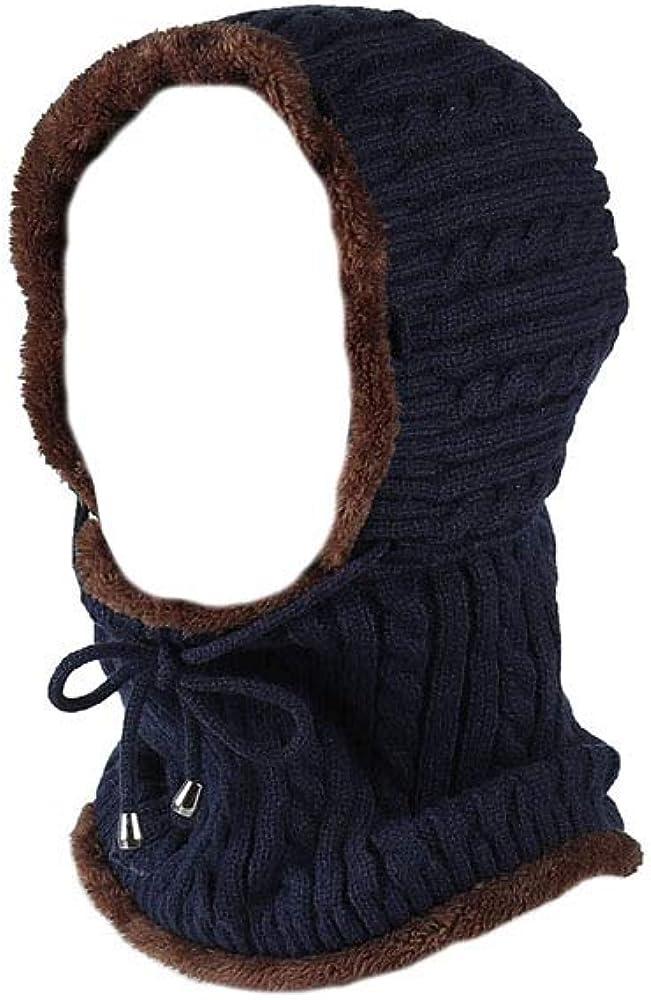 TUOTuo Unisex Winter Strick Warm Kapuzen-Schal mit weichem Fleece-Futter