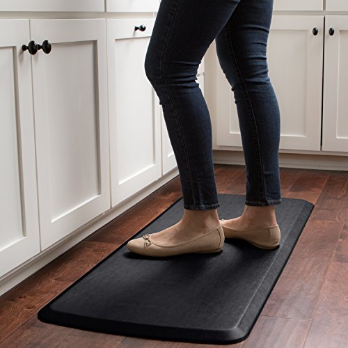 "GelPro Elite Premier Anti-Fatigue Kitchen Comfort Floor Mat, 20x48"", Vintage Leather Slate Stain Resistant Surface with Therapeutic Gel and Energy-return Foam for Health and Wellness by GelPro (Image #6)'"