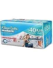 KleenBebé Movilastic Pañal Desechable para bebé, Talla Extra-Jumbo Unisex, Paquete con 40 Piezas, Ideal para Bebés de más de 13.5 kg