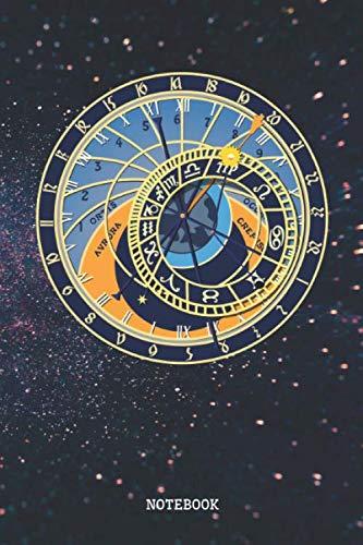 """Notebook: Astrology Signs Horoscope Zodiac Calendar Planner / Organizer / Lined Notebook (6"""" x 9"""")"""