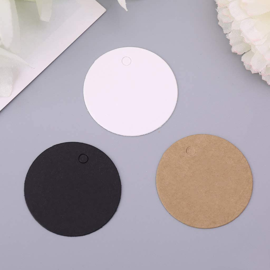 Tubicu Lot de 100 /étiquettes Vierges en Papier Kraft /à Suspendre pour f/ête de Mariage /Étiquette Cadeau 4 cm