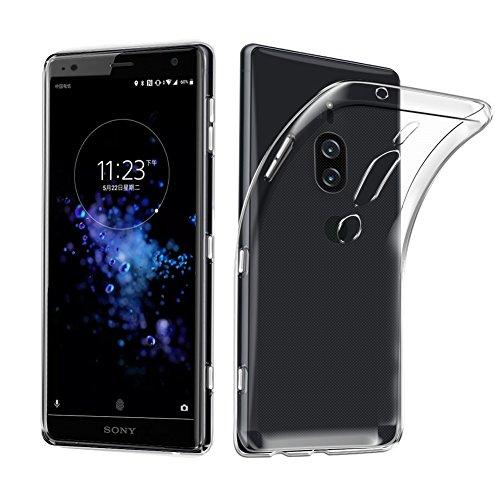 Sony Xperia XZ2 Premium Case, AVIDET Shock-Absorption Flexible Soft Gel TPU Silicone Case Cover for Sony Xperia XZ2 Premium (Transparent)