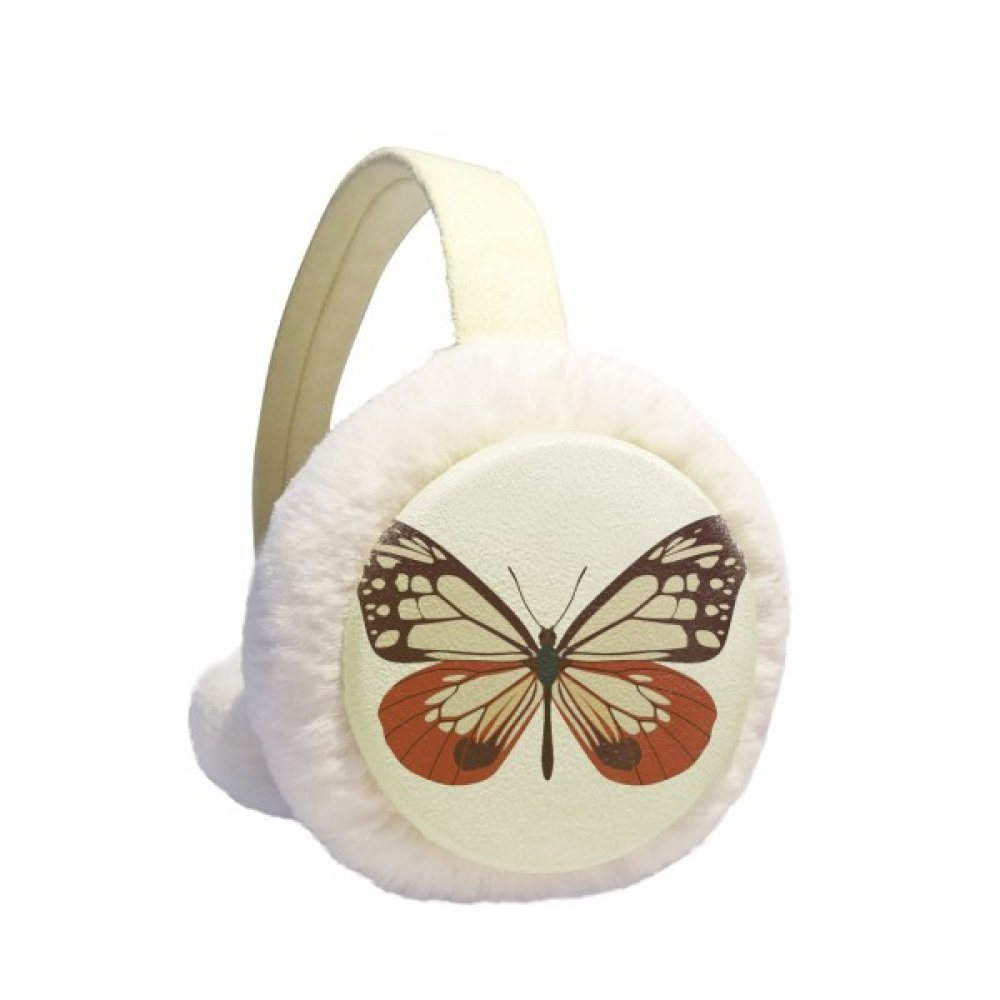Butterfly Specimen in Pale Pink and Red Winter Earmuffs Ear Warmers Faux Fur Foldable Plush Outdoor Gift