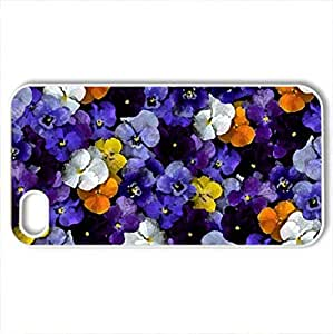 Beautiful Carpet - Case Cover for iPhone 4 and 4s (Flowers Series, Watercolor style, White)