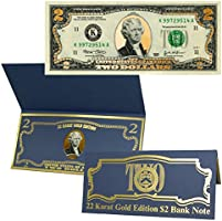 $2 Bill 22k Gold Layered