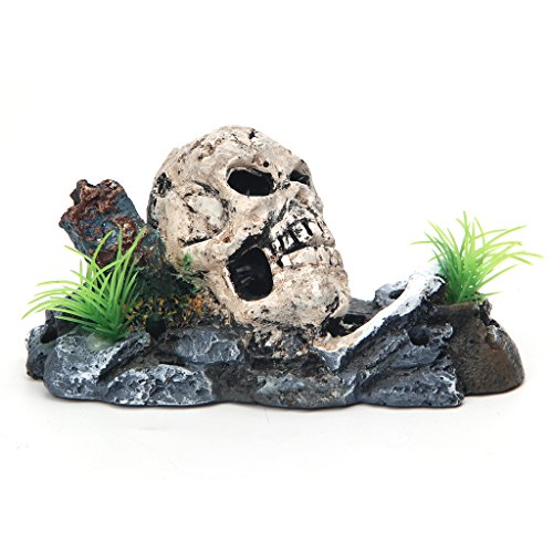 - Kocome Skeleton With Air Operated Oxygen Pump Aquarium Ornament Fish Tank Decoration
