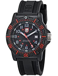 Luminox Mens 8815 Black Resin Watch with Red Accents
