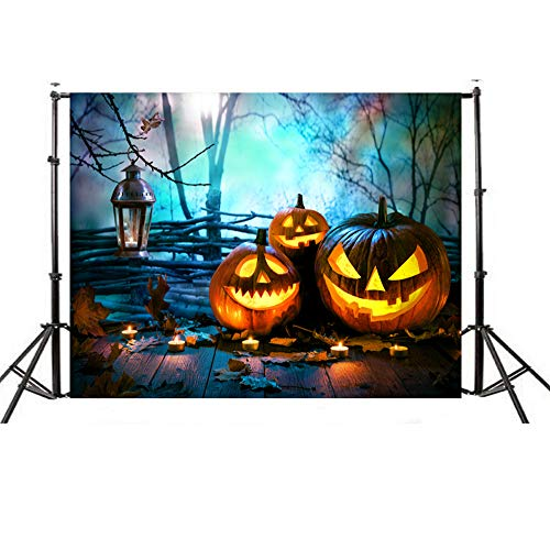 Wensltd Clearance! Halloween Backdrops Pumpkin Vinyl 5x3FT Lantern Background Photography Studio (E)]()