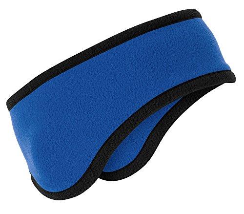 Joe's USA(tm) Soft & Cozy Two-Color Fleece Headband With Ear Warmers 8 Colors -