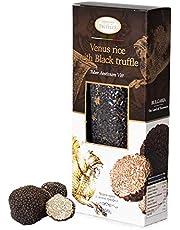 Black Venus Rice with Black Summer Truffle Tuber Aestivum Vitt, Vacuum Packaged Black Rice Gourmet, Rich in Antioxidants, Fibres, Vitamin E, Healthy Weight Body Control (1 x 250g)