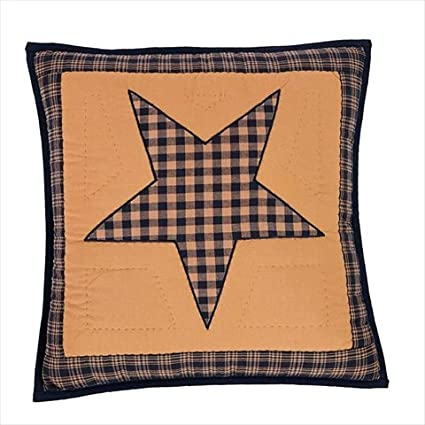 Amazon Teton Star Primitive Country Patchwork Quilted Pillow Adorable Primitive Pillow Covers
