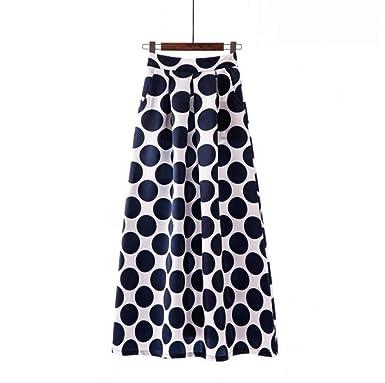 BIXIANGJI Falda larga for mujer, bolsillos de cintura alta Falda ...