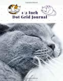 Alinda Mira Journals: 200 Pages, Spacing 2 dots per inch Composition Notebook Graph Dot Pads For Drawing Sketchbook Dotted Paper Notebooks For Kids & ... Size 8.5 x 11 Inch, Cute Cat Cover
