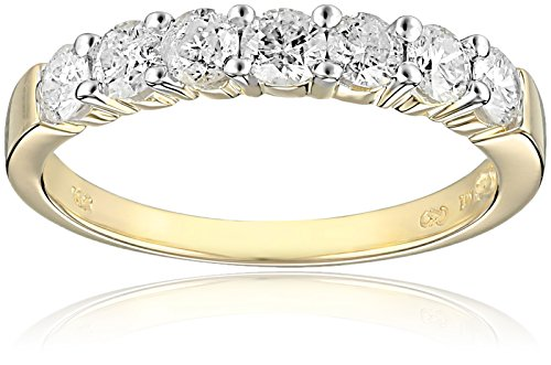 10k Yellow Gold 7-Stone Diamond Ring (1 cttw, H-I Color, I2-I3 Clarity), Size 8