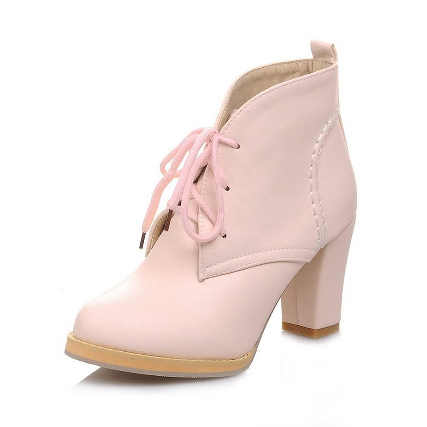 1TO9 Girls Platform Wheeled Heel Shoes Fashion Cone-Shape Heel Soft Material Boots