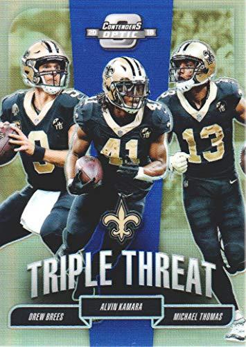 New Football Tt - 2018 Panini Contenders Optic Football Triple Threat Blue #TT-NOS New Orleans Saints 14/25