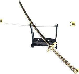 Demon Slayer 1/6 Size 10'' Agatsuma Zenitsu Sword Samurai Sword Katana Knife Action Figures Game Collection Sword Toys Sword Party Supplies Gift Sword Metal Room Decoration (Agatsuma Zenitsu)