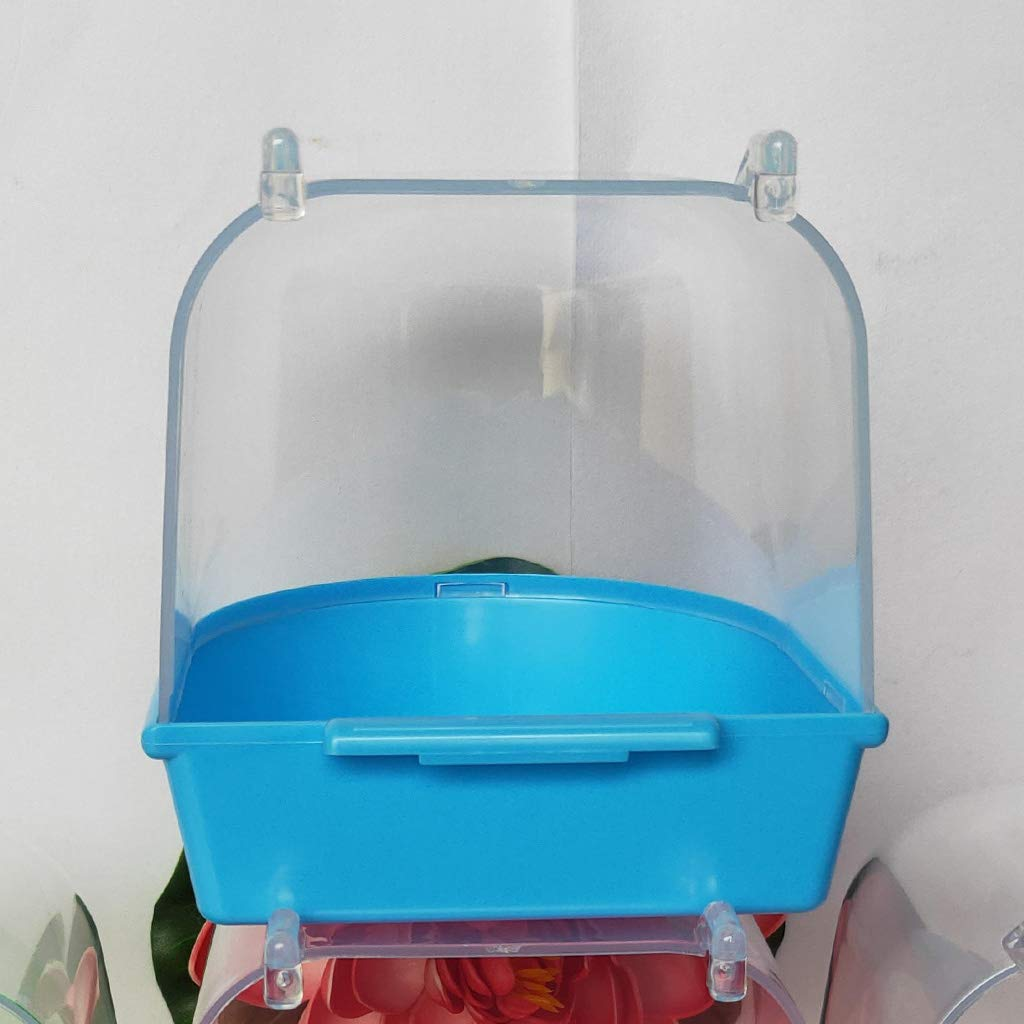LLAni Suspension Caged Bird Bath Multi Cage Covered Parrot Bathing Tub