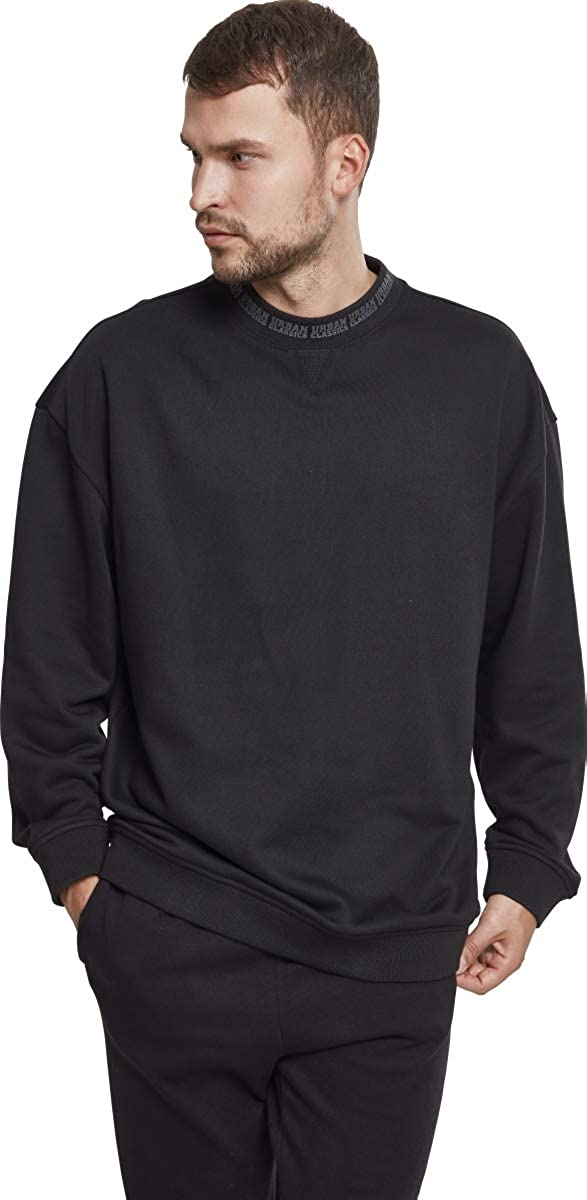 Urban Classics Mens Oversize Logo Crew Sweatshirt