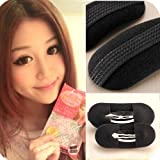2Pcs BUMP IT UP Volume Velcro Hair Inserts With Clip Back Do Beehive Hair styler