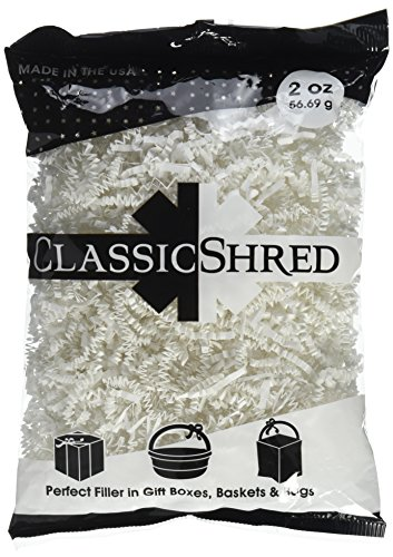 SPRING-FILL C2 ozWHHS-P Paper Shred, 2 oz, White