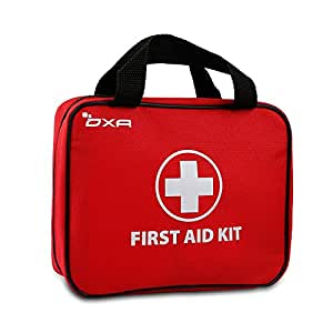 First Aid Kit - OXA All-Purpose First Aid Kit Multifunction FDA Certified Emergency Kit 100 Pieces with Soft Bag - Ideal for Camping, Hiking, Travel, Office, Sports, Pets, Hunting, Home - Red Large