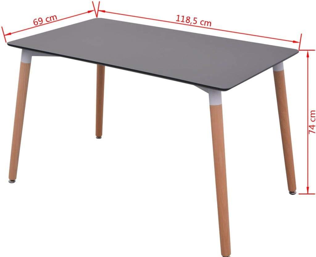 vidaXL 5 Pz Set Tavolo Tavolino e Sedie per Salotto Sala da