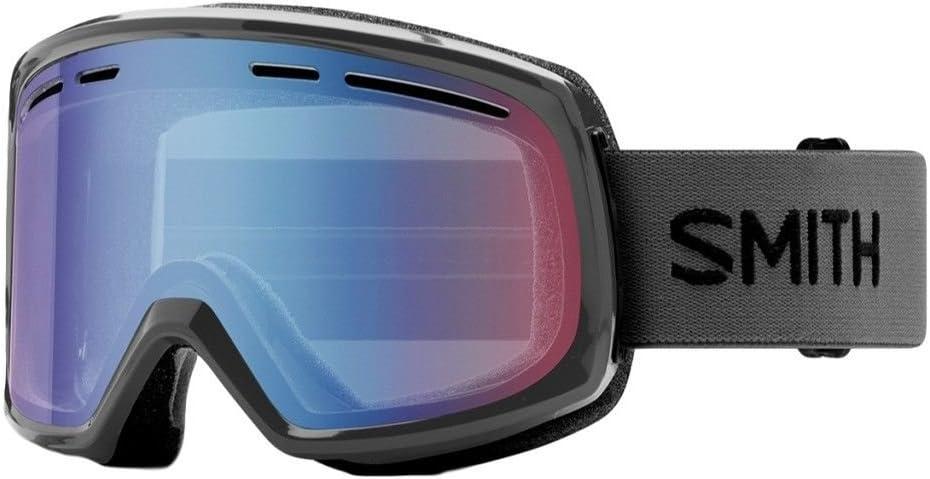 Smith Optics Adult Range Snow Goggles,Charcoal Frame/Blue Sensor Mirror