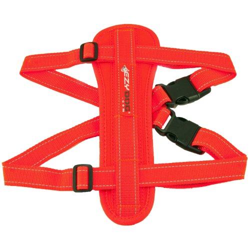 EzyDog Chest Plate Dog Harness, Blaze Orange, Medium, My Pet Supplies