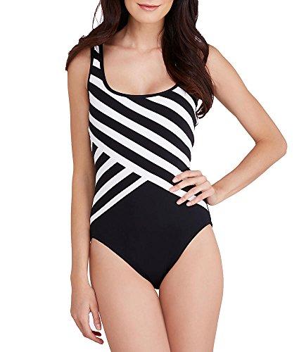 UPC 759258763358, DKNY Striped One-Piece Swimsuit