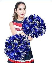 2 Pack Cheerleading Pompoms, Cheering Squad Spirited Fun Cheerleading Kit Cheerleader Aerobics Pom Poms for Te