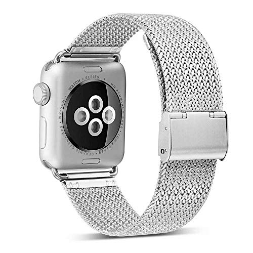 Compatible with 38mm 40mm Apple Watch Band Stainless Steel Replacement Band for Series 4 Series 3 Series 2 Series 1 Silver