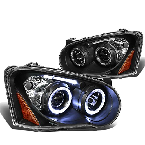 Dual Angel Eye Halo Projector (Impreza GD GG Twin Angel Eyes Dual Halo Projector LED Headlight Assembly (Black Housing Amber Reflector))