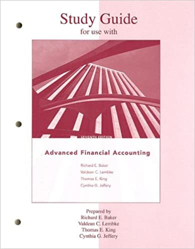 Study Guide to accompany Advanced Financial Accounting: Richard ...