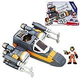 Star Wars Galactic Heroes Poe Dameron X-Wing Fighter (Black)