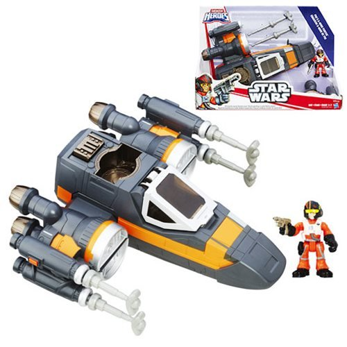 SW Star Wars Galactic Heroes Poe Dameron X-Wing Fighter (Black) (Star Wars Galactic Heroes X Wing Fighter)