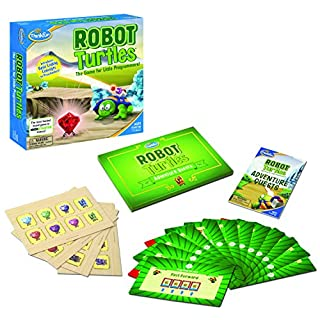 Think Fun Robot Turtles with Adventure Quest STEM Toy and Coding Board Game for Preschoolers - Made Famous on Kickstarter, Teaches Programming Principles to Preschoolers