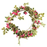 Artificial Flowers Rose Garland for Home Party Wedding Garden Decor DIY Work (Rose)