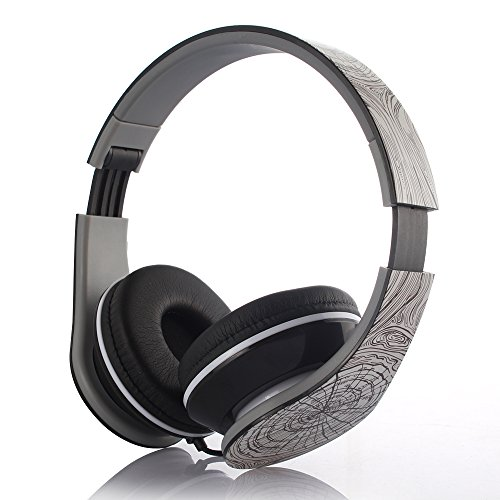 High-Performance Foldable On Ear Headphone with Micphone, 3.5mm Jack, Fashion Design Light Weight Noise Cancelling Over Ear Headphones for Phone/Tablet/PC/Laptop (Cobweb Pattern)