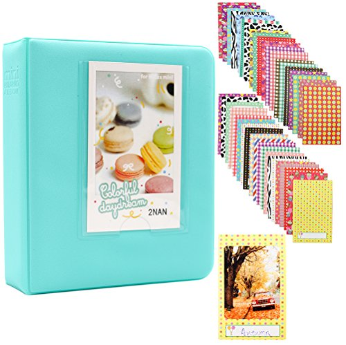 Ablus 64 Pockets Mini Photo Album for Fujifilm Instax Mini 7s 8 8+ 9 25 26 50s 70 90 Instant Camera & Name Card (Lg Film Camera)