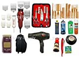 LIBERTY BEAUTY SUPPLY Cosmetology Kit For Professional Hairstylists and Hairdressers Professional Barbershop Hairsalon Barber / Hairstylist Hairdresser Cosmetology School Barber School Kit Wahl Designer Clipper Wahl Peanut Trimmer Wahl 5-Star Shaver 3200