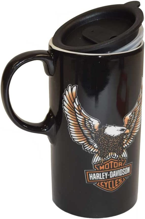 Harley-Davidson Travel Latte Mug, Bar & Shield Eagle Tall Boy
