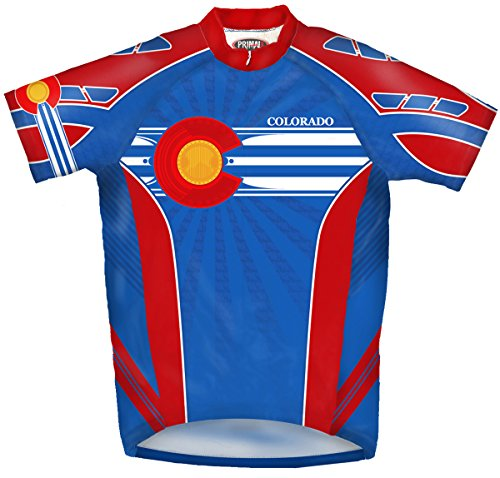 Primal Wear Colorado Cycling Jersey Large L bicycle (Colorado Cycling Jersey)