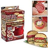Stufz Stuffed Burger Press As Seen on Tv Hamburger Grill BBQ Patty Maker Juicy