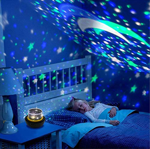 Outer Space Night Light Rotating Stars Projector Room Decoration for Children [ Upgraded 2019 ]