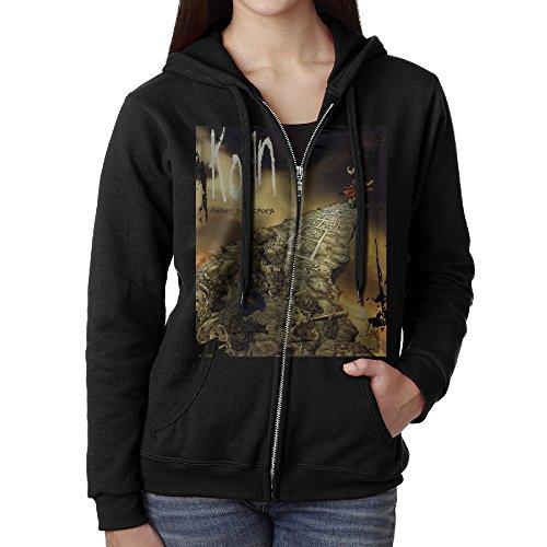 KOBT Women's Korn Follow The Leader Full Zip Sweatshirt Jackets Black Size S
